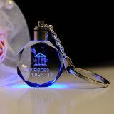 Keyring elegante requintado Keychain de cristal Octagonal
