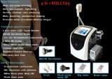 2017 ventas calientes libres de entrenamiento 4 en 1 máquina/Cryolipolysis del laser Cryolipolysis de la cavitación del ultrasonido