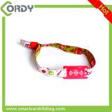 Wristband tejido RFID de encargo de la tela del festival de 13.56MHz FM11RF08