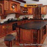 De hete Keukenkasten van de Luxe van de Verkoop Klassieke Stevige Houten met Eiland