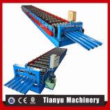 Métal en acier galvanisé de profil couvrant le roulis ondulé de feuille formant la machine