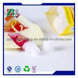Kundenspezifischer Drucken-Plastiktülle-Beutel-Wein-verpackendüsen-Griff-Beutel (ZB388)