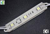 Módulo 3 LED 5 LED, módulo rojo de la alta calidad SMD5050 LED de la fuente de la fábrica del RGB LED del rojo azul 12V