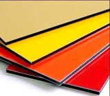Utilisation composée en aluminium rouge lustrée de panneau pour des finis de mur