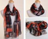 De Sjaal van de Zijde van de Chiffon van de Polyester van dame Fashion Printed (YKY1005)