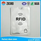 Padrão de fibra de carbono PU Leather RFID Blocking Card Holder