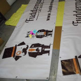 Коммерчески крытое напольное придавая огнестойкость знамя PVC с графическим печатание