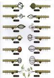 Het Europese Decoratieve Metaal Polen van de Toebehoren van het Gordijn voor Afrika