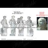 Marmeren Standbeeld Van de vier seizoenen Mej.-193 van Carrara van het Standbeeld van het Graniet van de Steen Wit