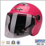 Casco aperto classico della motocicletta/motociclo/motorino del fronte di colore rosso di vino (OP229)