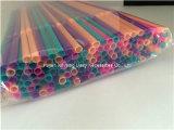 Paille à boire en plastique de jus flexible remplaçable coloré
