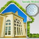 Fenêtre de conception moderne pour votre maison, circulaire / ronde ou personnalisée Fenêtre en verre spécial en bois de forme