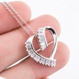 Collana Pendant del nuovo dell'argento sterlina 925 di modo cuore genuino di amore per il regalo del partito delle ragazze della donna