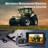 Sistema impermeable sin hilos para el alimentador de granja, visión de la cámara del monitor del carro