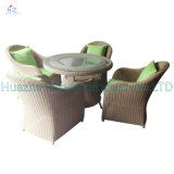 Sofá Outdoor Rattan Furniture com Chair Table Wicker Furniture Rattan Furniture para Outdoor Furniture com Wicker Furniture