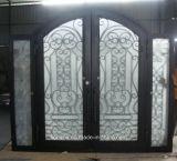 Porta da rua popular superior do ferro feito do projeto do arco com os Sidelights para a casa