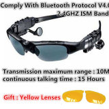 Auriculares sem fio de Motorcycle Glasses Bluetooth MP3 Sun Glasses para Mobille Phone