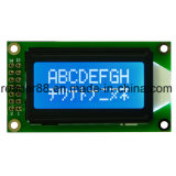 Stn Transflective Yellow-Green Positive 8X2 Character Display LCD