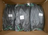 Gant enduit d'unité centrale de noir de nylon noir (DPU117)