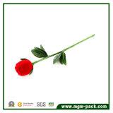 Rectángulo de joyería Shaped innovador del embalaje del terciopelo de Rose