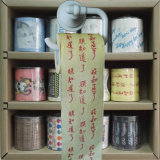 L'image faite sur commande a estampé le roulis drôle de tissu de chiffons de papier de toilette