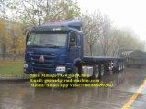 3つの車軸平面セミトレーラー70トンの、輸送容器のために、Fuwaの車軸