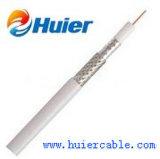 Câble coaxial de liaison bon marché du prix usine CATV Statellite RG6 avec du ce RoHS d'ETL