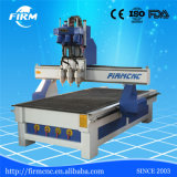 3 de gecombineerde CNC van Assen Houten Machine van de Router met de Uitrustingen die van 3 Bits Hulpmiddelen snijden die voor Houten Deuren, Meubilair, Keukenkast worden gebruikt