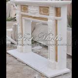 Marmeren Veelkleurige Open haard mfp-409 van de Open haard van het Graniet van de Steen