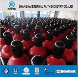 Cilindro de gas del helio del acero inconsútil ISO9809