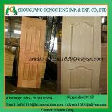 Piel chapeada de la puerta del molde de HDF para el uso de la puerta