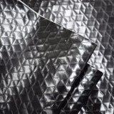 Couro sintético Shining de couro liso malogrado da bolsa do plutônio