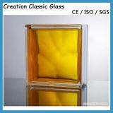 Ясность/покрашенный стеклянный блок с аттестацией