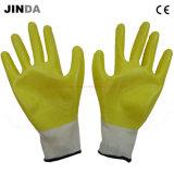 Перчатки нитрила Nh001 наполовину Coated защитные