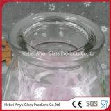 frasco de vidro do difusor material branco elevado da lingüeta do aroma 250ml