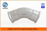 Edelstahl-Rohrpresstechnik 45 Grad Equal Elbow