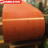 Bobina d'acciaio galvanizzata stampata di legno