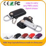 Mecanismo impulsor del flash del USB de la dimensión de una variable de la carpeta con la insignia de encargo (EL014)