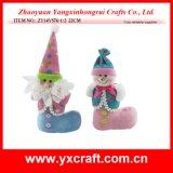 Utilisation de cadeau de poste de gaine de PVC de Noël de gaine de Santa de gaine de sucrerie de Noël de la décoration de Noël (ZY14Y596-1-2)
