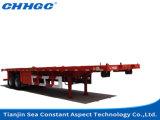 De hete Verkopende Flatbed Semi die Aanhangwagen van 3 As in China wordt gemaakt
