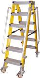 (375LBS) 35kv Yellow Fiberglass Portable и Step Ladder