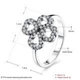 지르콘 최신 디자인 반지를 가진 925 순은 거여목 모양