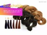 Het Menselijke Haar die van uitstekende kwaliteit van 100% de Zijdeachtige Rechte Bruine Kleur van het Weefsel weven 8inch