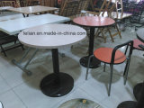 Chrome Metal Base (LL-CFT004)の円形のWood Coffee Table