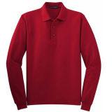 Unbelegter normaler Mens-langes Hülsen-Polo-Hemd