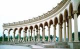 Colonna di pietra di scultura di marmo della colonna