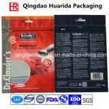 Kundenspezifischer seitlicher Stützblech-Nahrung- für Haustiereverpackenplastikbeutel mit Reißverschluss