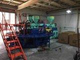 Máquina misturada da modelação por injeção das solas do PVC Airblowing da cor