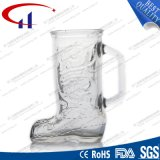 Entwurfs-Glasbier-Becher des Schuh-350ml (CHM8060)