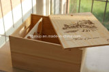 휴대용 주문 고품질 도매 나무로 되는 포도주 상자